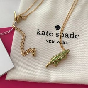Kate Spade alligator necklace 🐊